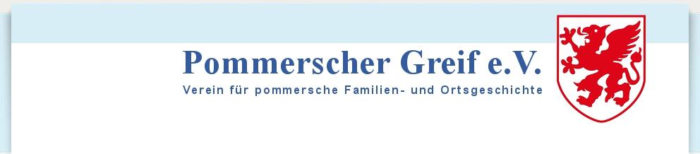 Pommerscher Greif - website